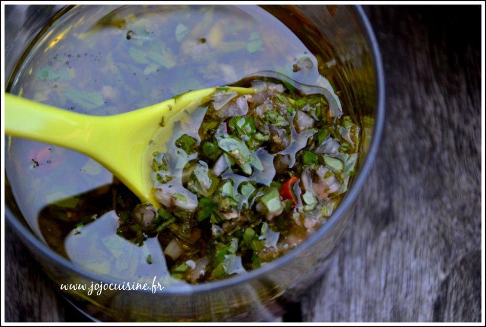 Sauce Chimichurri spécialité Argentine