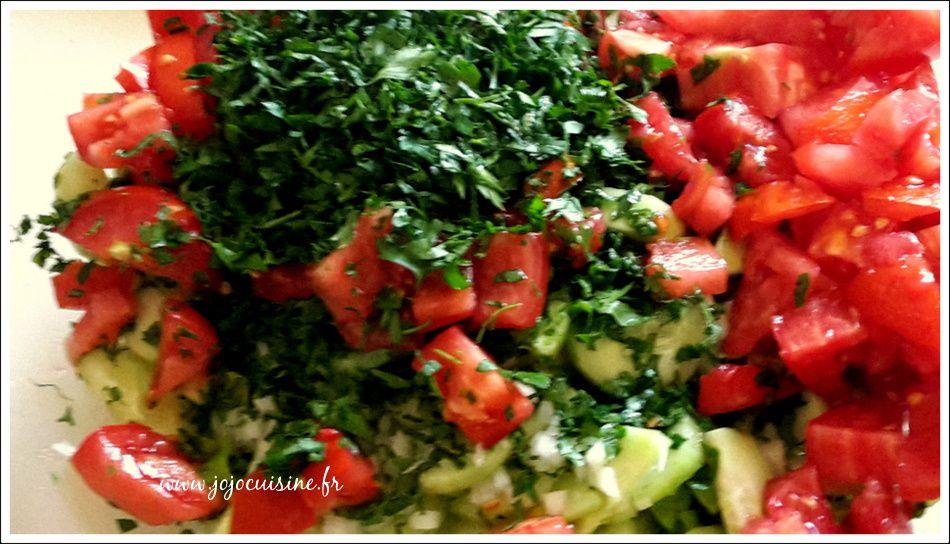 Salade Fattouche spécialité Libanaise