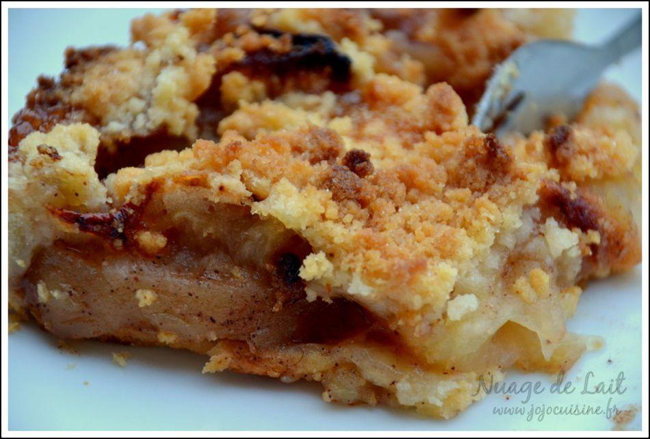 Tarte aux pommes et Crumble&#x3B; Apple Crumble Pie de Hervé Cuisine