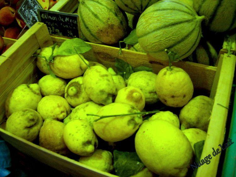 Citrons au Marché Provencal Antibes