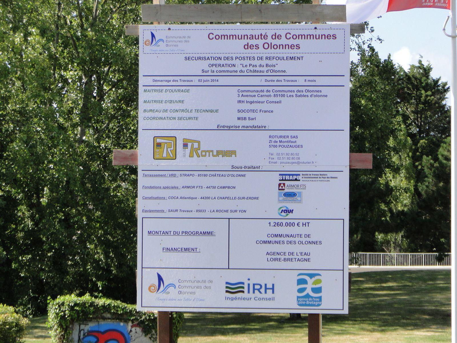 PHOTO 1 : travaux bientôt engagés par la Communauté de Communes des Olonnes CCO sur le carrefour des Plesses