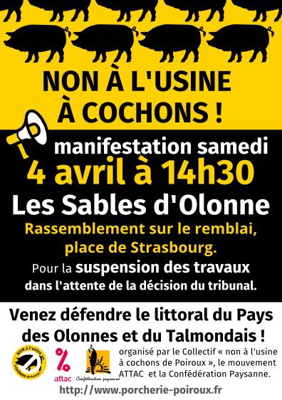 ALERTE POLLUTION  : RASSEMBLEMENT DU 4 AVRIL 2015 AUX SABLES D'OLONNE