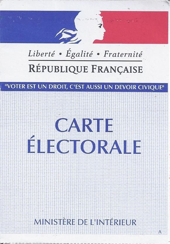La carte électorale ne s'use que si l'on ne s'en sert pas !