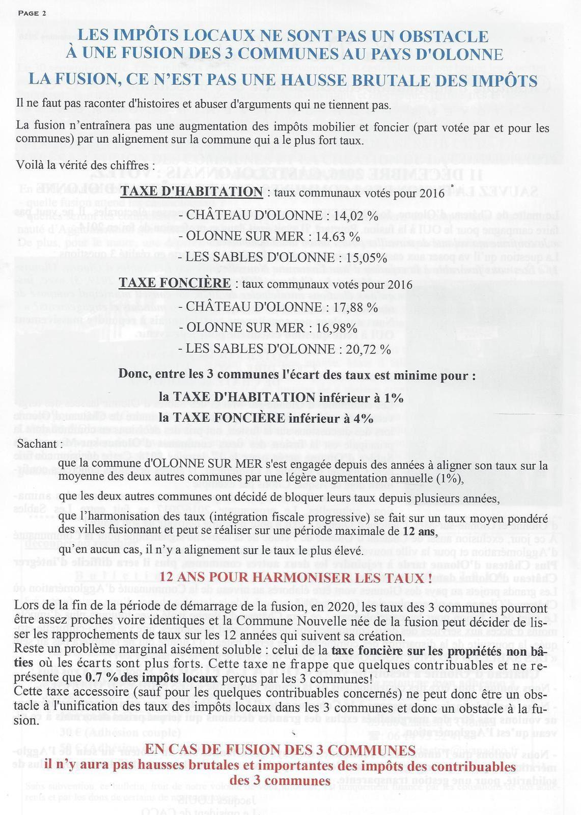 VIE DE CHÂTEAU N° 10, FUSION DES COMMUNES, CONSULTATION 11 DÉCEMBRE 2016