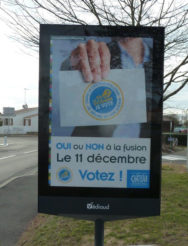 La campagne du maire de Château d'Olonne c'est cela et bien d'autres choses avec les moyens de la mairie, un buget de 30 000euros...