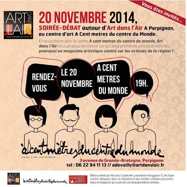 Perpignan/jeudi/conférence:&quot&#x3B;Pourquoi un magazine artistique centré sur les artistes de la région ?&quot&#x3B; L'art dans l'air