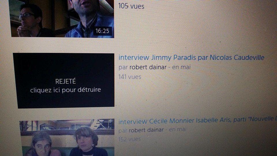 Jimmy Paradis à fait retirer sa vidéo dont il n'assume plus l'interview, voilà ce qui reste