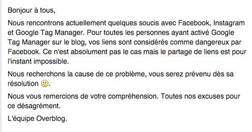Le blog de Jean-Marc Pujol interdit sur Facebook et signalé comme lien dangereux sur google!