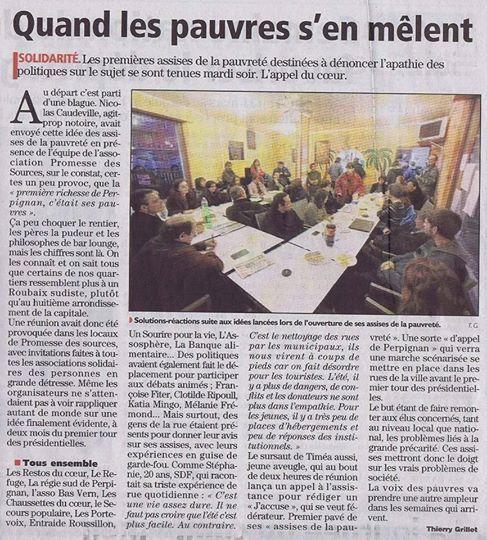Perpignan: des assises de la pauvreté sont nécessaires en cette période d'élections présidentielles! par Nicolas Caudeville