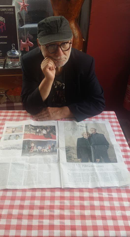 """Avant le départ a festival de Cannes, face ç un article dans le journal """"le monde"""" où il est cité! –  Les Epicuriens."""