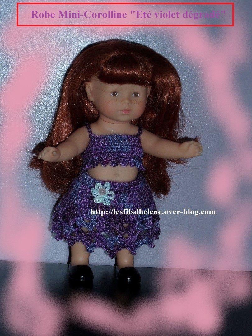"""Robe Mini-Corolline """"Eté violet dégradé"""""""