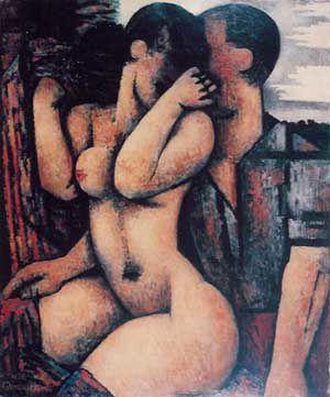 Marcel Gromaire, Le Couple, 1936, huile sur toile.