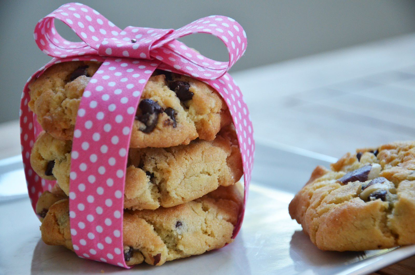 Cookies au beurre de cacahuètes / cookies américain {thermomix}