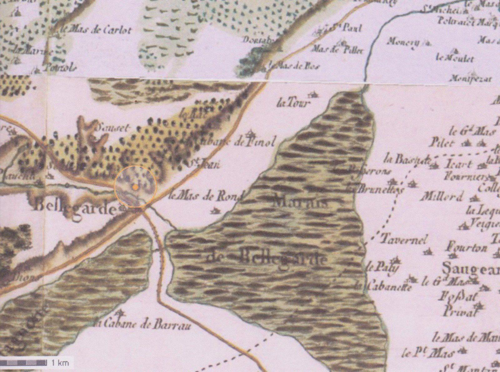 Image 3 : conduites sous tuyaux et aérienne des deux aqueducs d'Arles.