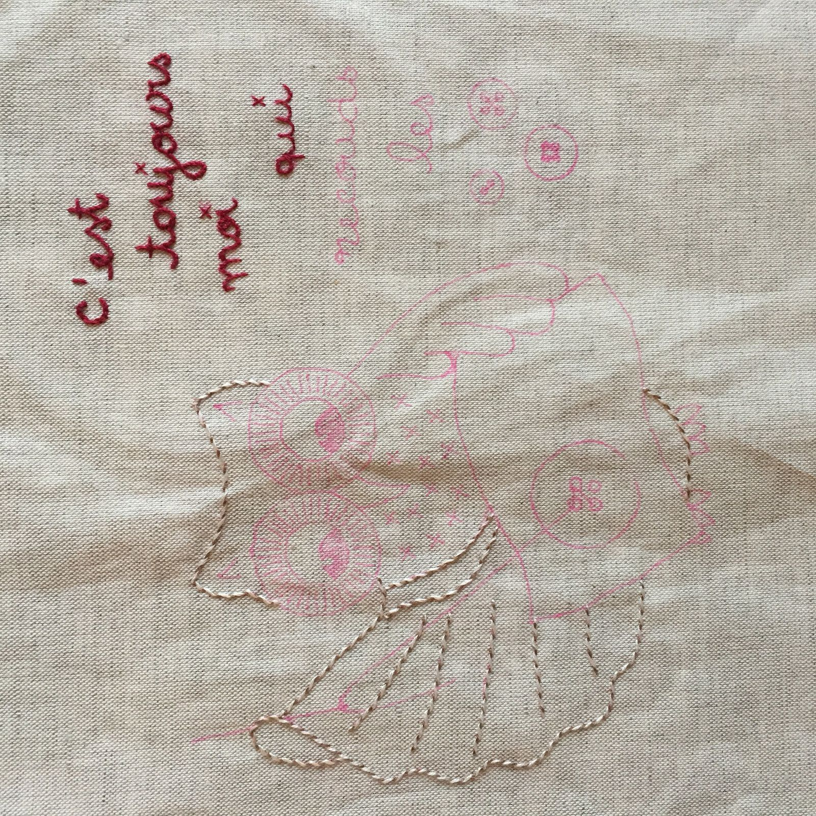 Chouette broderie traditionnelle #2