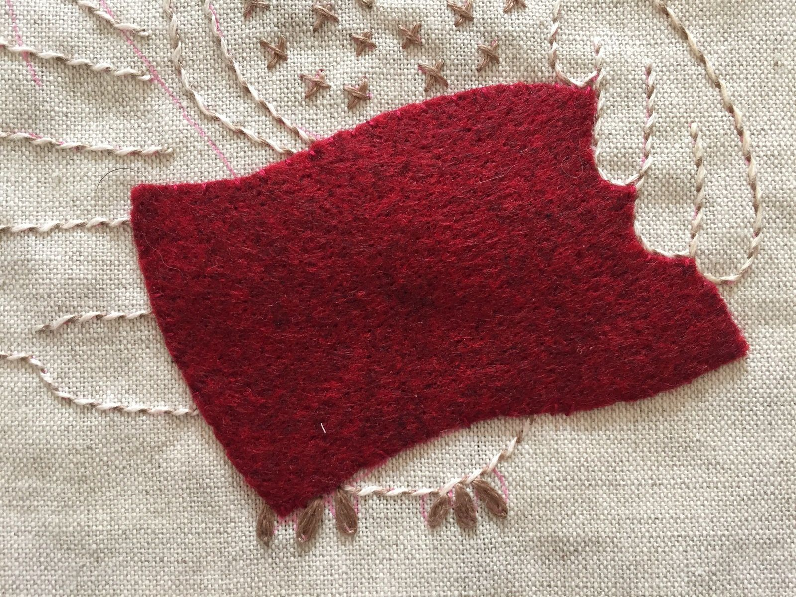 Chouette broderie traditionnelle #4