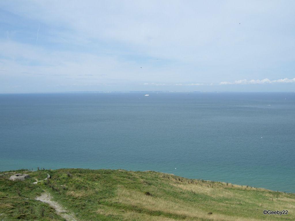 Le Cap Blanc-Nez, avec au loin les falaises de Douvres