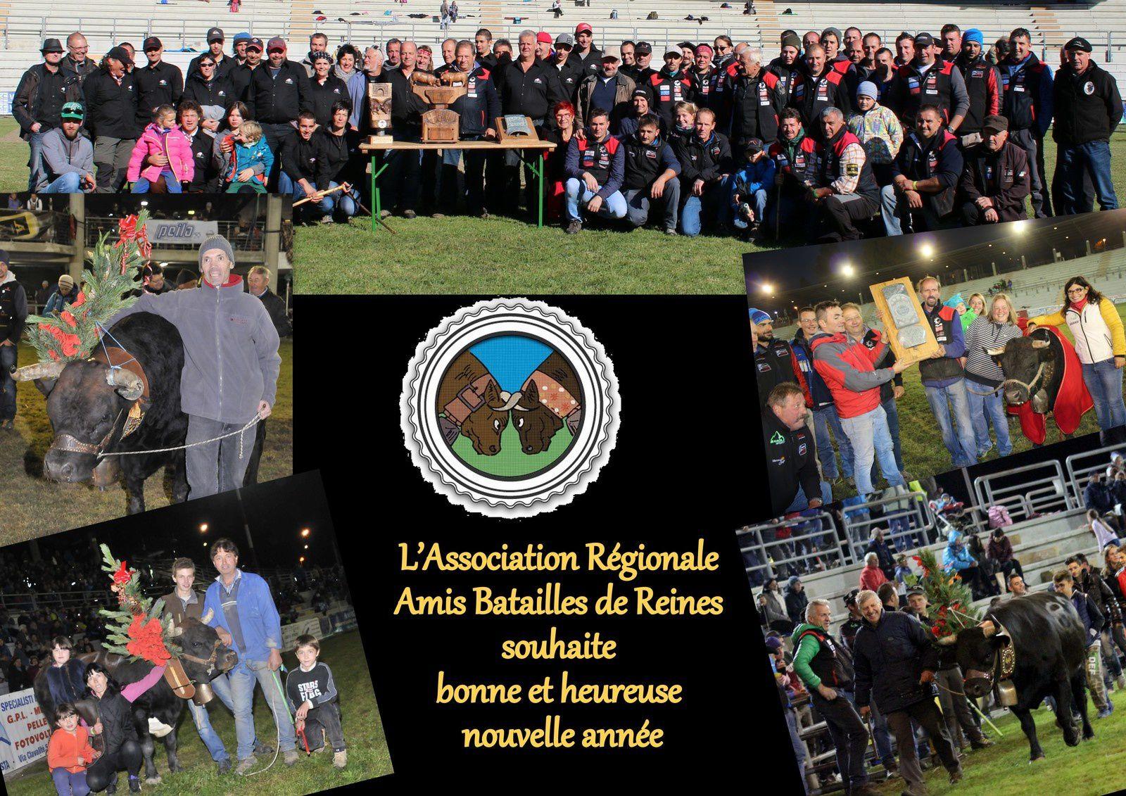 L'Association Régionale Amis Batailles de Reines souhaite bonne et heureuse nouvelle année