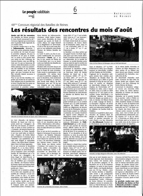 Article sur le peuple valdotain
