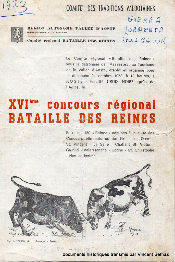 Histoire des Batailles de Reines - carnet de combat du 1973