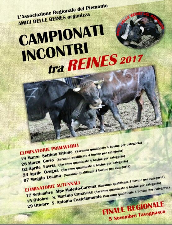 Piemonte: Calendario Batailles de Reines 2017