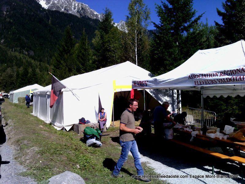Espace Mont-Blanc Chamonix 2017 - départ de l'équipe de la Vallée d'Aoste