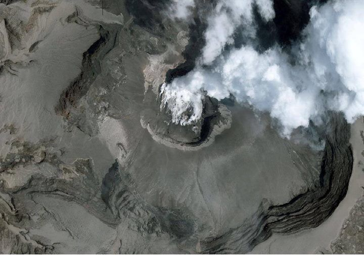 Kelud 18.02.2014 Summit zone close up - International Charter Space and Major Disasters / USGS