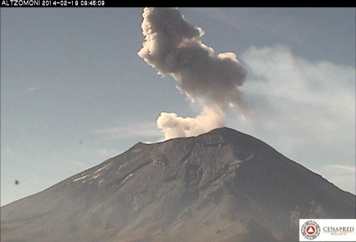 Popocatepetl - webcam Canapred / Altzomoni 18.02.2014 / 9h45