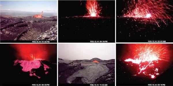 Kilauea - activité au spatter cone NE du Pu'u O'o - photos HVO / USGS.