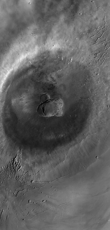 Ascraeus Mons - photo  Mars Global Surveyor. - Nasa photojournal