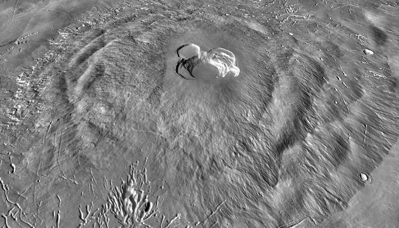 Ascraeus Mons: terrasses de flanc - photo Nasa / JPL Caltech / Arizona State University
