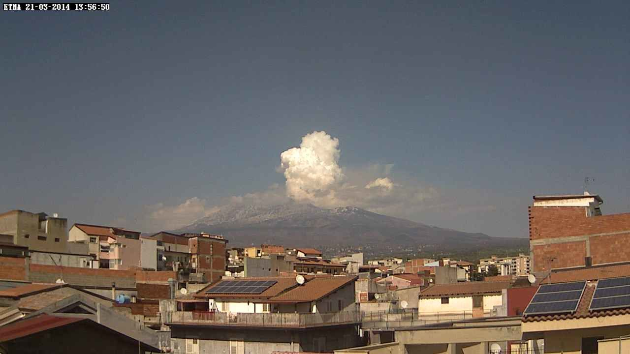 Etna 21.03.2014 / 13h57 - webcam Etna touring