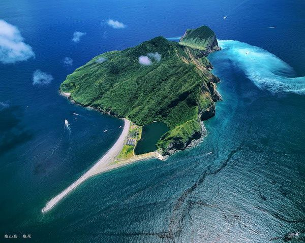 """""""Turtle Island """" - Guieshan has the shape of a turtle with a prominent tail. - Photo Chen Minming"""