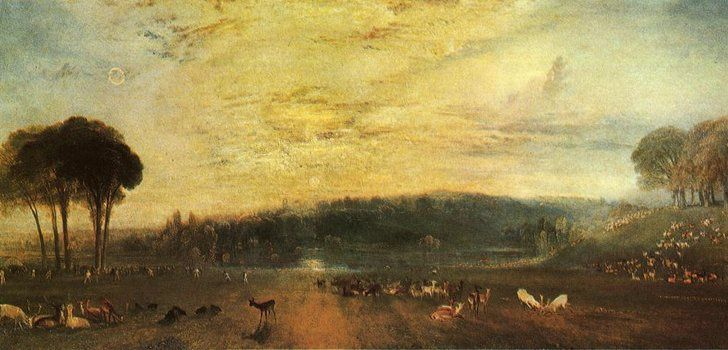 "William Turner - "" The Lake, Petworth ""  1829"