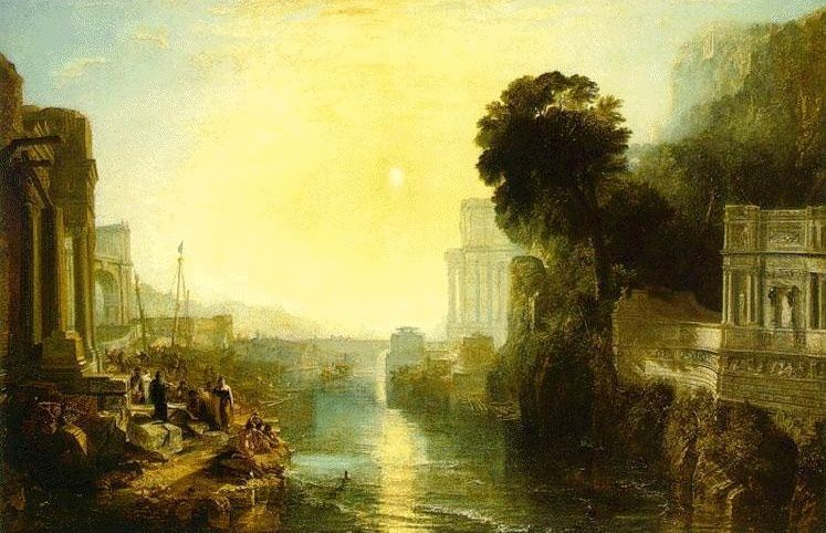"William Turner - "" Dido building Carthage "" - 1815 - National Gallery London ."