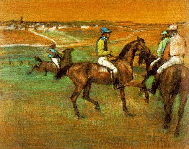 "Edgar Degas - "" race horses "" - 1885 - Norman skies - The Walter H. and Leonore Annenberg Collection // ratio R / G 1.65"
