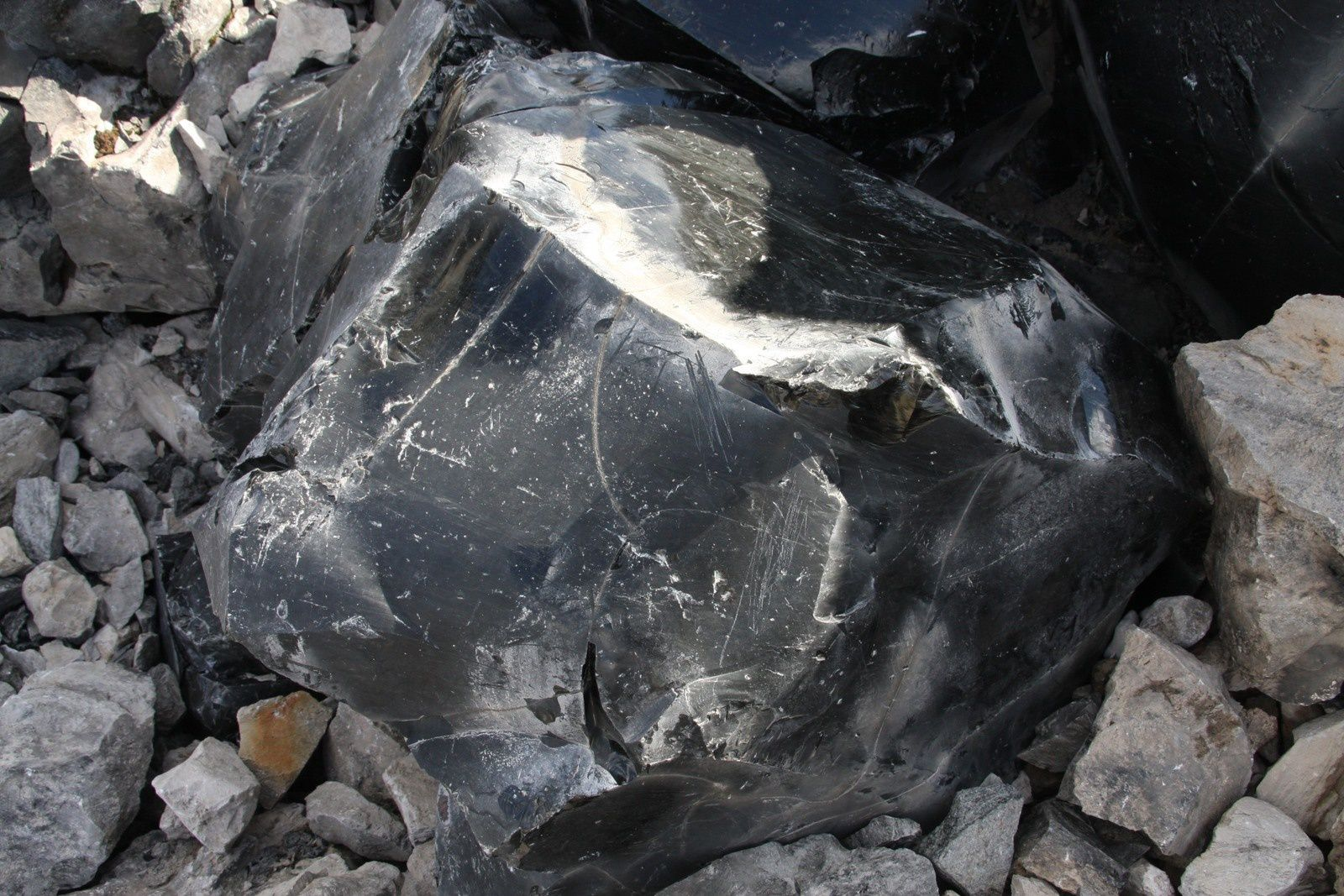 Bloc d'obsidienne - Newberry caldera - photo JM.Mestdagh