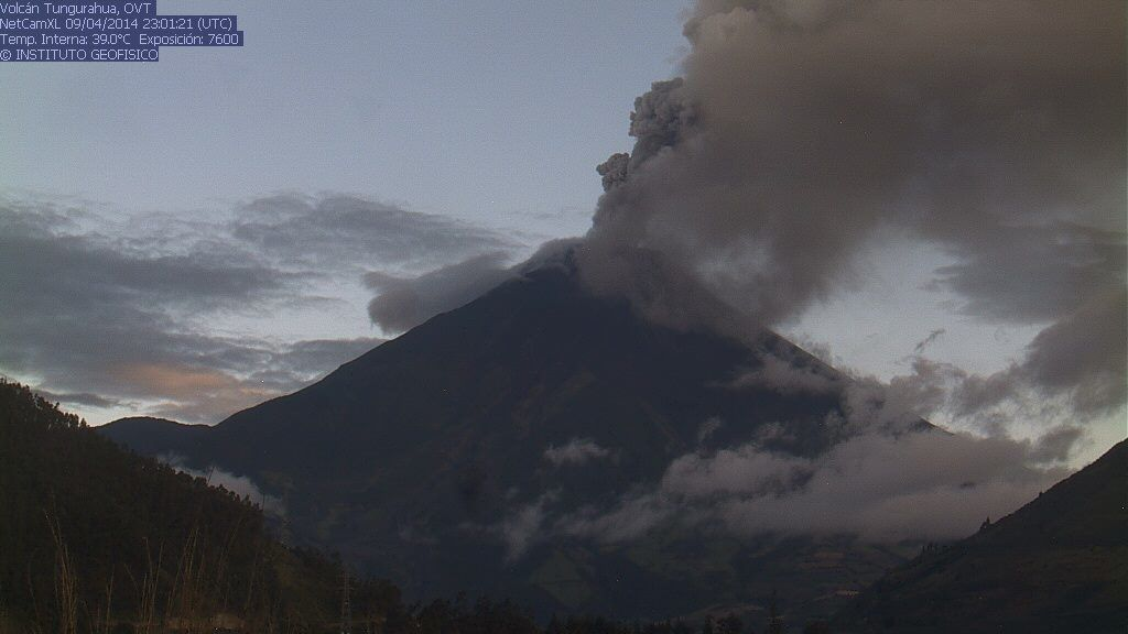 Tungurahua - 09/04/2014 - webcam IGEPN / OVT