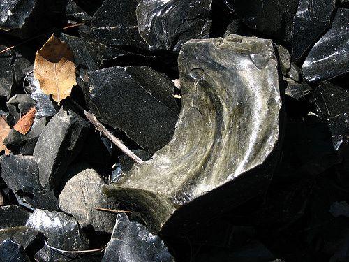 Eclats d'obsidienne de Las Navajas - photo Trotamexico