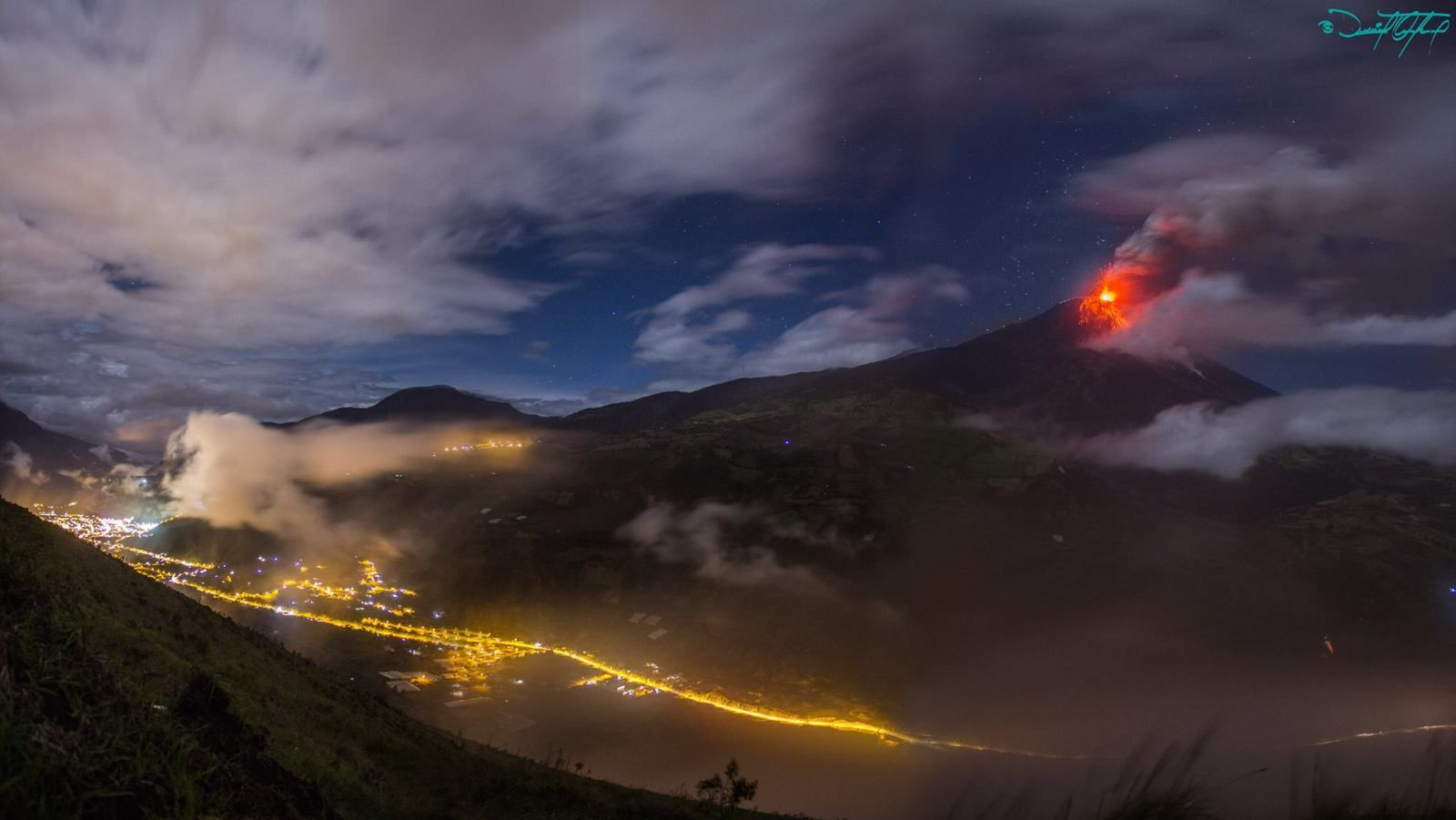 Tungurahua - 04.09.2014 / 20h30 - Photo Daniel Quinteros