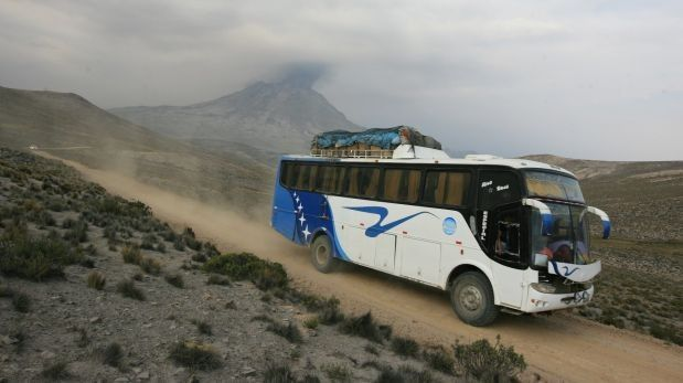 Premières évacuations à l'Ubinas -  photos Julio Angulo - El Comercio