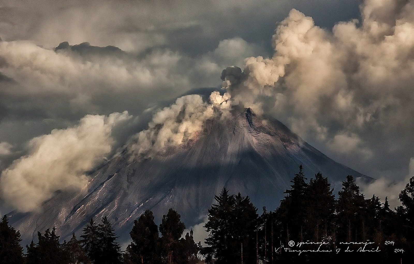 Tungurahua - 17.04.2014 - a volcano with panache ! - Photo Jose Luis Espinosa - Naranjo .