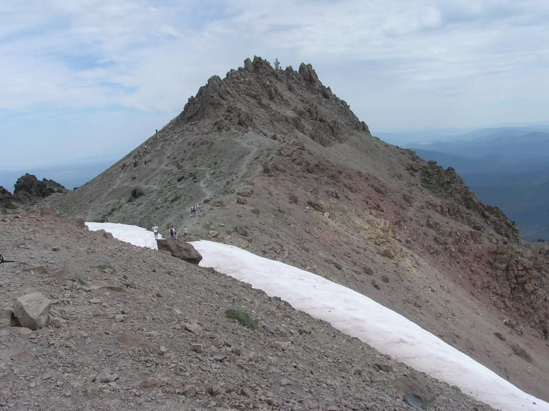 Le sommet du Lassen Peak - photo National Park Service 2003