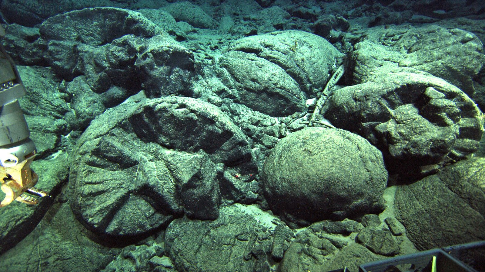 Pillow lavas sur  Ka'ena / Hawaii - Oahu.- Photo University of Hawaii at Manoa./ via Live Science
