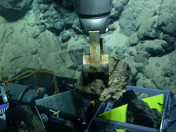 Sampling on Ka'ena / Hawaii - Oahu - . Photo University of Hawaii at Manoa / via Live Science.