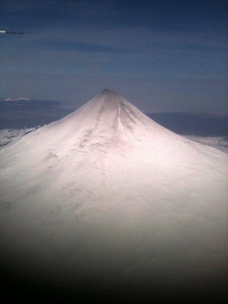 Shishaldin - photo Greg Walters / AVO / 05.14.2014 - note the presence of ash on top .