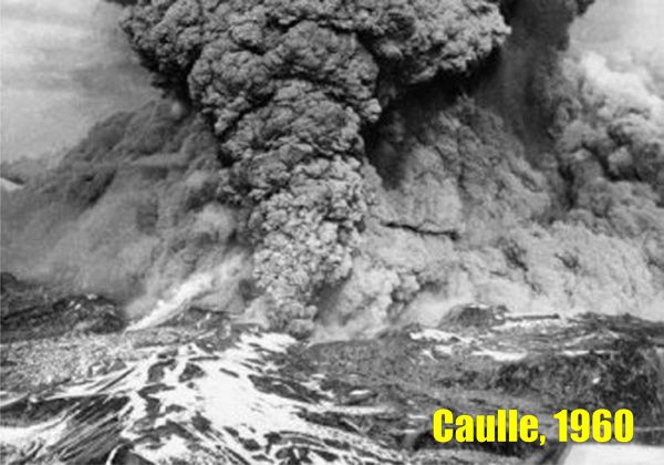 Cordon Caulle - 05/24/1960 eruption - photo www.lmneuquen.com.ar