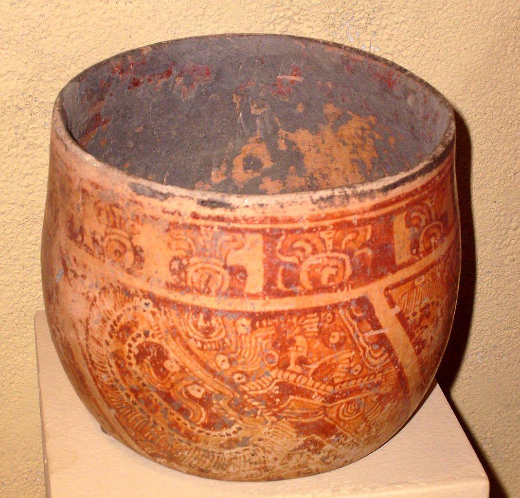 Vase cérémoniel Maya – Période classique terminale (600-900) – Copan  / Honduras – photo Durova