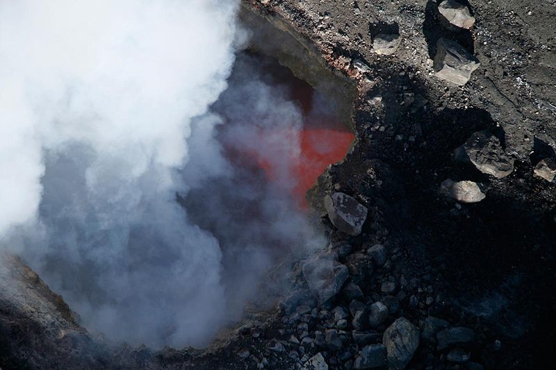 Kilauea / Halema'uma'u - Crater Overlook on 09.05.2008 - photo HVO-USGS