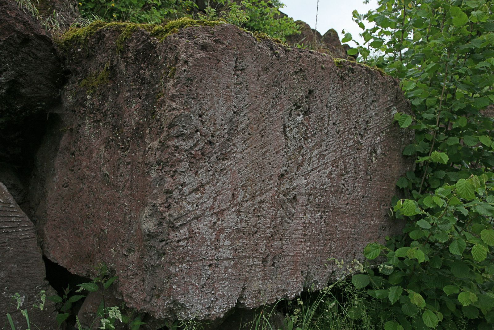Career Michelnau - block tuff with traces of saw - photo © Bernard Duyck 05.2014